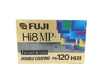Fuji Hi-8 MP Double Coating P6-120 Minute Cassette Tape Video Blank Extraslim