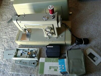 Vintage Sears Kenmore Portable Sewing Machine 158-1318 Case & accessories 70's