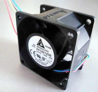 Delta PFC0612DE-F00 12vdc 60x60x38mm Fan Tach & Speed Control