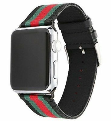 Apple Watch Band Strap Gucci Pattern Sport Replacement Leather Band 42mm (USA)