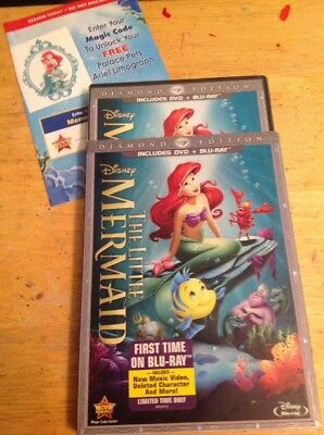 The Little Mermaid (Blu-ray Disc ONLY,2013,2-Disc,Diamond Edit)Authentic Disney