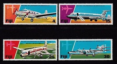 Fiji  1976 : 25th Anniversary Air Service in Fiji  1951 - 1976 Set of 4 Stamps,