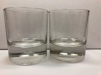 Set Of 2 New Crown Royal 3D COLLECTOR GLASS - Glass Only