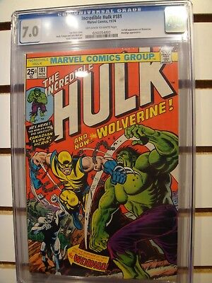 Incredible Hulk #181 CGC 7.0 First appearance of Wolverine!!