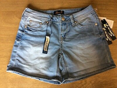 SEVEN 7 - Womens POWELL Blue - Knit Denim Shorts -- various sizes --NEW