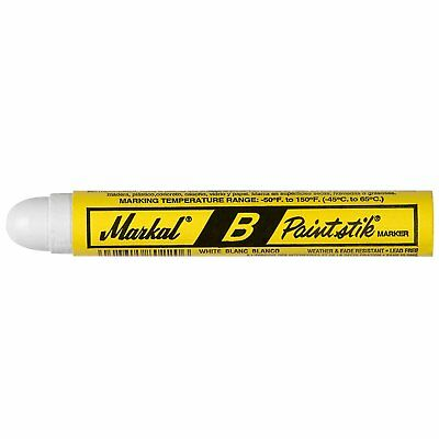 Markal 80220 B Paintstik Solid Paint Ambient Surface Marker, White (Pack of 1)