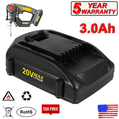 2.0Ah WA3525 WA3520 20V MAX Lithium Battery for WORX WG163 WG151s WG155s WG251s