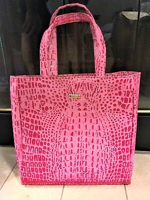 NEW!   Babyliss - Pretty In Pink Luxe Faux Croc Tote!   NWOT!