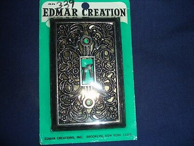 Vintage Edmar Creation Light Switch Brass Plate Cover Bronze Gothic Style New