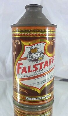 Falstaff Cone Top Beer Can In Excellent Condition