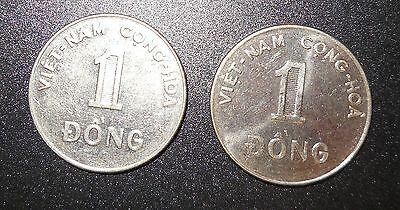 Viet Nam State Of South Viet Nam 1 Dong, 1971 , Lot of 2 coins