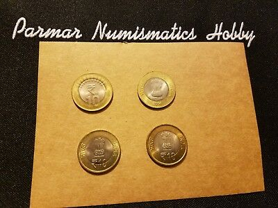 India  Rs.10 Coins ( 2014 & 2015 -2 coins & 2-commemorative coins)