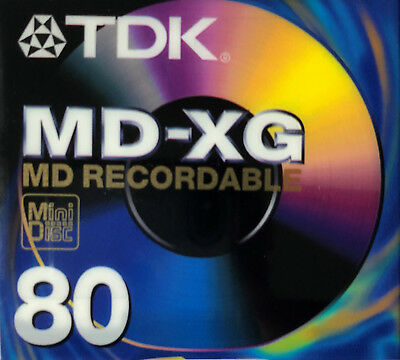 TDK MD-XG80 MD Recordable Mini Disc