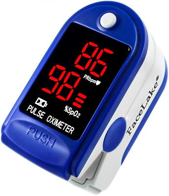 FaceLake FL400 Pulse Oximeter with Carrying Case, Batteries, Neck/Wrist Cord - B