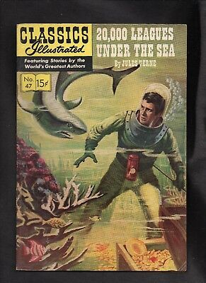 Classics Illustrated #47 Vg   Hrn128  (20,000 Leagues Under The Sea) Jules Verne