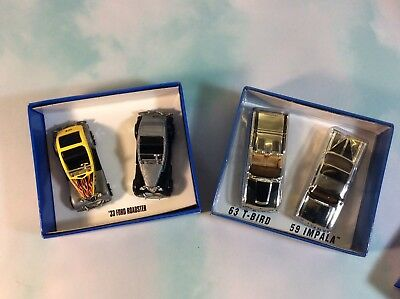 New Mattel Hot Wheels KB Toys Special Edition Series Mixed Lot Of 2 (4-Cars)