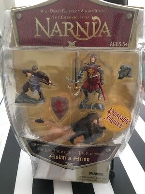 Narnia Poseable Figures - Lion Witch & Wardrobe - Aslan's Army - sealed REDUCED