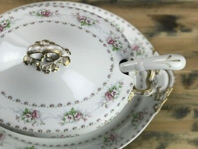 Early 20th Century William Guerin &Co. Limoges, France Platter, Tureen & Ladle