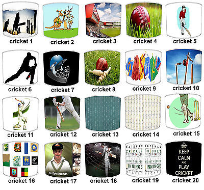 Test Cricket Lampshades Ideal To Match Twenty20 Test Cricket Duvets & Cushions.