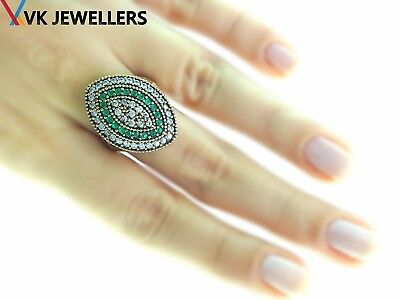 Ottoman Turkish Women Jewellery Antique Style Sterling Silver Fashion Rings Sz 8
