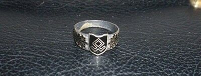800 Silver Ring WW2 German Army Prinz Eugen Military Ring 21 mm