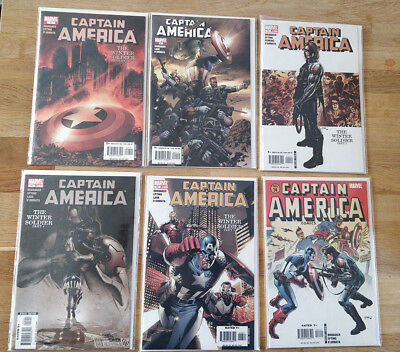 Captain America Winter Soldier & Death of Captain America 12 Comic Lot Key Issue