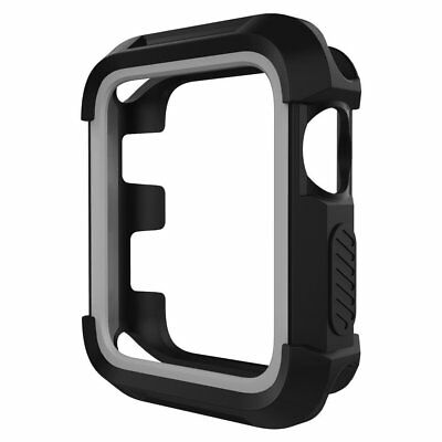 Umtele Rugged Apple Watch Case 38mm Shock Proof Bumper Cover Scratch Resistant