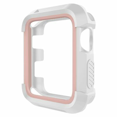 Umtele Rugged Apple Watch Case 38mm Shock Proof Bumper Cover Protective Case