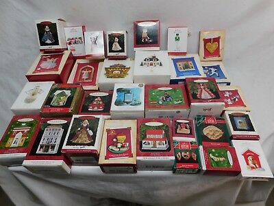 Vintage Hallmark Keepsake Ornaments -Lot of 31 Ornaments in Boxes