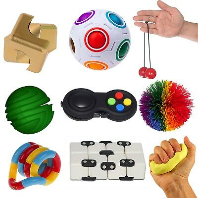 Essential 9-Piece Fidget Kit | Sensory Fidget Toys for Special Needs, ADHD, etc.