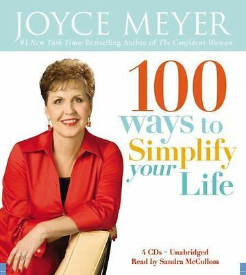 New Audio Book 100 Ways to Simplify Your Life by Joyce Meyer Unabridged on CDs