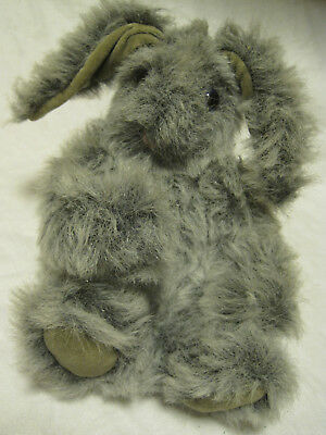 Artist Sue Newlin JOINTED RABBIT MOHAIR? SIGNED/DATED 1986