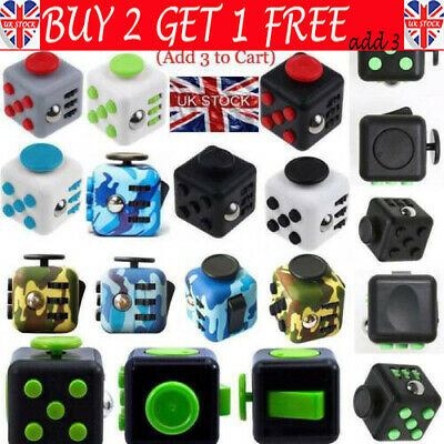 Fidget Cube Spinner Toy Children Desk Adults Stress Relief Cubes ADHD Camouflage