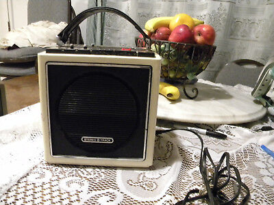 Working Vintage Sears FM-AM Stereo 8 Track Solid State Model 800.21060 600