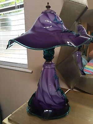 Blown Glass Lamp By Charles Hall. Orginally $1,450.00 excellent condition