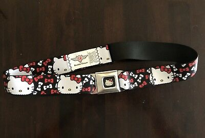Hello Kitty by Sanrio Buckle Down Seatbelt Belt 2011 Bows Black Red White