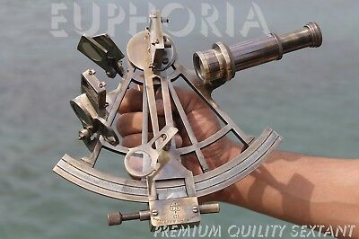 The Sextant Nautical Brass Ship Astrolabe Navigational Device Educational Unit