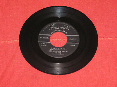 Buddy Holly &the Chirping Crickets Rockabilly Rock & Roll 45 Ep Rpm Record Nice!