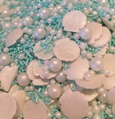 She Sells Sea Shells Cake and Cupcake Sprinkles Edible Cake Topper Mermaid  Styl