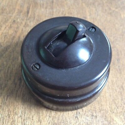 Bakelite Crabtree Light Switch - vintage