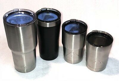 Lot Of 4 Double Wall Vacuum Insulated Tumbler 30, 20, 12, 10oz Stainless Steel
