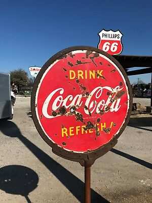 vintage porcelain coke lollipop sign