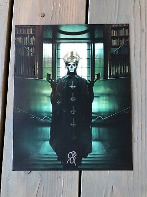 SIGNED Ghost BC Papa Emeritus III Lithograph Photo VIP Popestar Tour 2017
