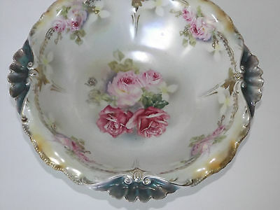 Beauitiful Antique Royal Bayreuth Porcelain  Bowl  Painted Roses