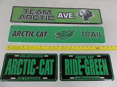 RARE Arctic Cat 4 aluminum signs you get all 4 collectible artic NEW