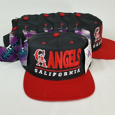 Vintage Lot of 6 Deadstock Clutch Player California Angels MLB Snapback Hat