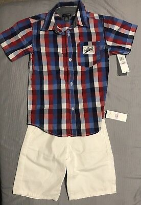 Tommy Hilfiger Shirt & Shorts Set Size 6 New NWT