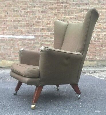 Retro Vintage Danish Style Easy Chair E Gomme G Plan Mid Century
