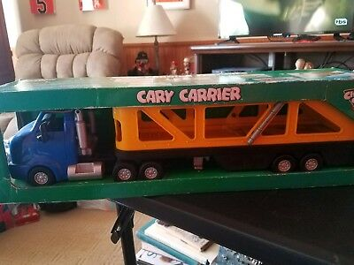Chevron Cars Cary Carrier Tractor Trailer Toy New