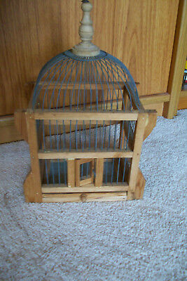 Vintage Decorative Wood and Wire Bird Cage